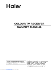 Haier 15F6B Owner's Manual