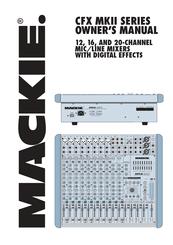 Mackie CFX20.mkII Manuals on
