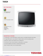 toshiba 19a24 manuals rh manualslib com Toshiba Laptop User Manual Toshiba Manual PDF