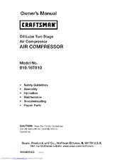 Craftsman 16781 - Professional 80 Gal. Vertical Air Compressor Owner's Manual