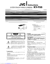 JVC KY-F55U - 3-ccd Multi-purpose Camera Less Lens Instructions Manual