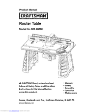 craftsman 28180 fixed base router table combo manuals rh manualslib com craftsman router manual download craftsman router manual pdf