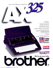 Brother AX-325 Brochure