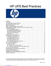 HP 204451-002 - UPS T2200 XR Best Practices Manual