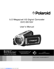 polaroid dvc 00725f manuals rh manualslib com Polaroid One Step Q Light polaroid dvd player dvp-1000 manual