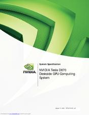 nvidia tesla d870 manuals rh manualslib com NVIDIA Tesla K40 NVIDIA Tesla Logo