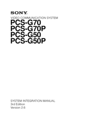 Sony Ipela PCS-G50P System Integration Manual