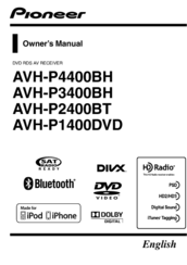pioneer avh p1400dvd manuals. Black Bedroom Furniture Sets. Home Design Ideas
