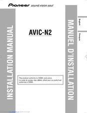 pioneer avic n2 manuals rh manualslib com AVIC-N2 Cpn1955 AVIC-N2 Cpn1955