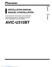 pioneer avic u310bt navigation system with cd player manuals rh manualslib com AVIC-U310BT Audio pioneer avic-u310bt manual pdf
