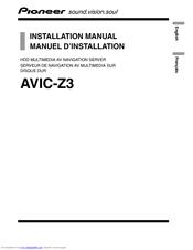 pioneer avic z3 manuals rh manualslib com Pioneer AVIC- Z2 Power Cable Pioneer AVIC- Z2 Power Cable