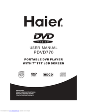 Haier PDVD770 User Manual