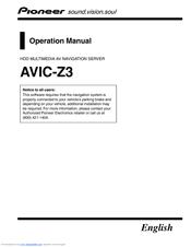 pioneer avic z3 manuals rh manualslib com Pioneer AVIC- Z2 Pioneer AVIC- Z2