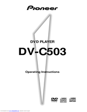 Pioneer C503 - DV - DVD Changer Operating Instructions Manual