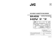 JVC BR-HD50U - Compact HDV/DV Format Video Recorder Instruction Manual