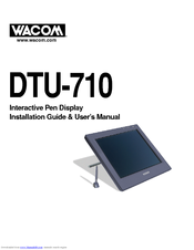 WACOM CINTIQ DTU-710 DRIVERS FOR MAC DOWNLOAD