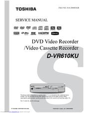 toshiba dvr610 dvdr vcr combo manuals rh manualslib com toshiba d-vr610 manual pdf toshiba dvr610 manual download