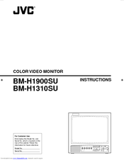 JVC BM-H1310SU - Color Production Monitor Instructions Manual