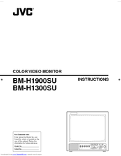 JVC BM-H1300SU Instructions Manual