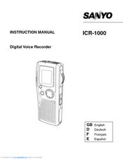 Sanyo ICR-1000 Instruction Manual