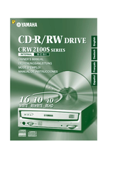 Yamaha 2100E - CRW - CD-RW Drive Owner's Manual