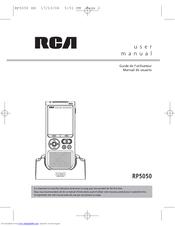 Rca RP5050 - Digital 128 MB Built Manuals