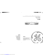 GE Spacemaker 7-5330 User Manual