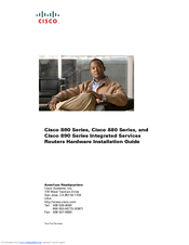 Cisco 881W - Integrated Services Router Wireless Hardware Installation Manual