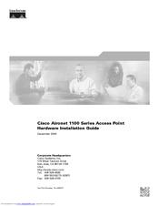 cisco air ap1121g a k9 aironet 1100 wireless access point manuals rh manualslib com cisco aironet 1100 wpa2 configuration cisco aironet 1100 installation guide