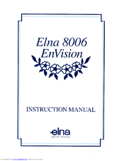 ELNA EnVision 8006 Instruction Manual