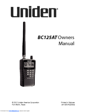Uniden BC125AT Owner's Manual
