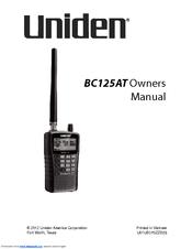 uniden bc125at manuals rh manualslib com Uniden 5.8 GHz Manual Uniden User Manuals
