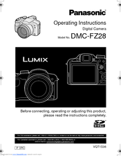 panasonic lumix dmc fz28 operating instructions manual pdf download rh manualslib com panasonic lumix dmc zs8 owners manual Panasonic Lumix G