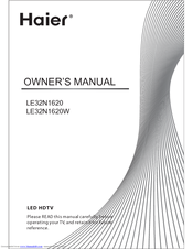 Haier LE32N1620 Owner's Manual