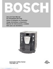 bosch coffee machine instructions