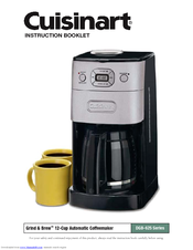 Cuisinart Automatic Grind And Brew Coffee Maker User Manual : Cuisinart DGB-625BC - Grind & Brew Automatic Coffee Maker Manuals