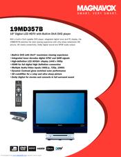 magnavox 19md357b hook up guide manuals rh manualslib com Magnavox Flat Screen TV Manual Magnavox LCD TV Manual