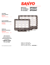 Sanyo DP26647A - 26 Wide-Screen LCD HDTV Owner's Manual