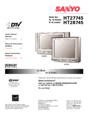 Sanyo HT27745 Owner's Manual