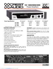 crest audio cc4000 manuals rh manualslib com User ID and Password Crest CC2800