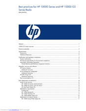 HP 245161-B22 - 10642 42U Rack Shock Pallet Best Practices Manual