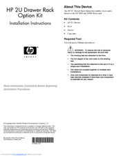 HP 245161-B22 - 10642 42U Rack Shock Pallet Installation Instructions