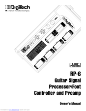 digitech rp6 manuals rh manualslib com digitech rp6 service manual Effects Processor Digitech RP6