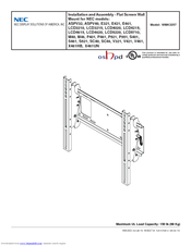 NEC S461-AVT Installation And Assembly Manual