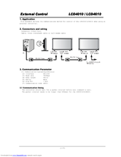 NEC MultiSync LCD4010 Manual