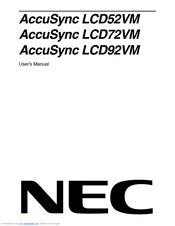 NEC ACCUSYNC LCD52VM DRIVER FOR WINDOWS 8