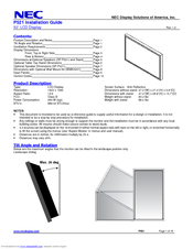 NEC P521-TMX4 Installation Manual