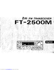 YAESU FT-2500M Instruction Manual
