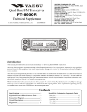 YAESU FT-8900R Technical Supplement