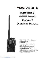 YAESU VX-8R OPERATING MANUAL Pdf Download